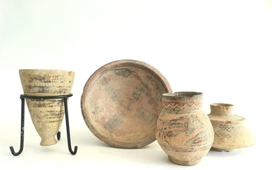 A collection of Indus Valley pottery items, (Circa 3rd mille...