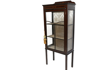 A mahogany collection cabinet