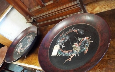 A pair of late 18th early 19th century Chinese lacquered pap...