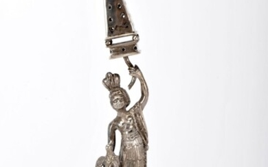 """A toothpick holder """"Indian woman with bird and pyramid"""""""