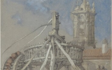 A water well, Madrid, David Roberts, R.A.