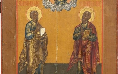 AN ICON SHOWING THE APOSTLES PETER AND PAUL
