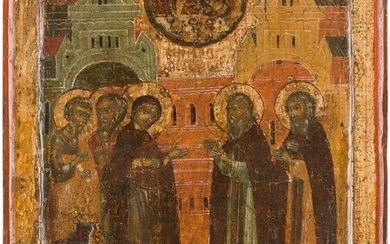 AN ICON SHOWING THE APPEARANCE OF THE MOTHER OF...