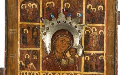 AN ICON SHOWING THE MOTHER OF GOD OF KAZAN...
