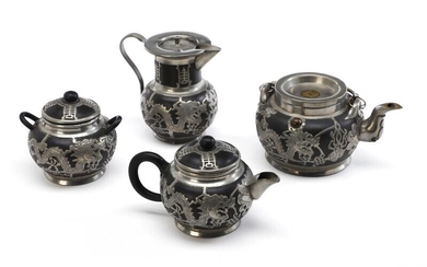 NOT SOLD. An early 20th c. Tung King Shun yixing-ware and pewter tea-set. (4) – Bruun Rasmussen Auctioneers of Fine Art