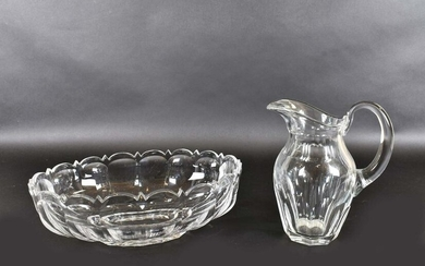 BACCARAT COLORLESS GLASS PITCHER