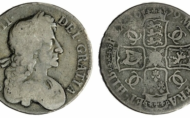 Charles II (1660-1685), Crown, 1679 TRICESIMO PRIMO, fourth bust