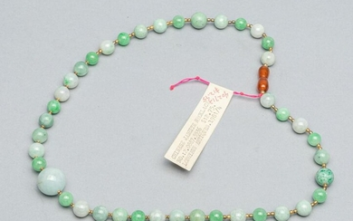 Chinese Export Jade Necklace