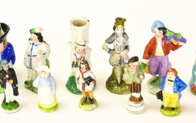 Collection Of Antique Frozen Charlotte Dolls