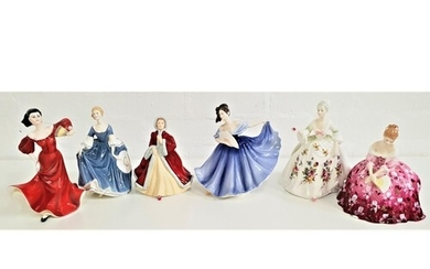 FIVE ROYAL DOULTON FIGURINES including Diana, HN2468, Victor...