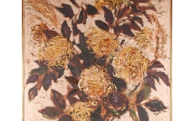 Frost, 20th century school, a still life study of flowers in...