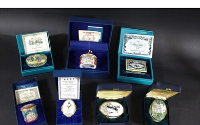 HALCYON DAYS & BILSTON AND BATTERSEA ENAMEL BOXES including ...