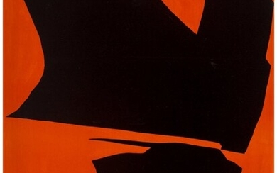 Jack Youngerman (1926-2020) Untitled (Red/Black)