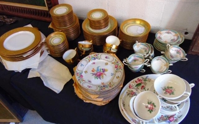 Large lot of porcelain dinnerware, fine china, includes