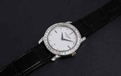 PATEK PHILIPPE, REF. 5027, A PLATINUM MANUAL-WINDING WRISTWATCH WITH DIAMOND-SET BEZEL