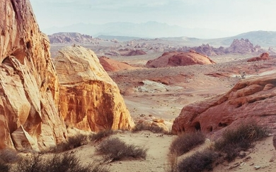 PHILIP HYDE - 2 Photos - White Domes, Valley of Fire