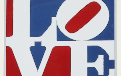 "Robert Indiana, after: ""The American Love"". Signed in print R. Indiana 75. Offset in colours...."