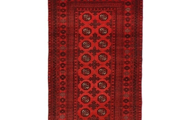 3'4 x 6'3 Hand-Knotted Persian Turkmen Rug, 1970s
