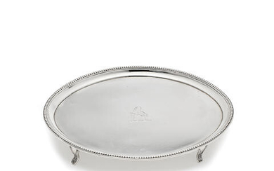 A George III silver teapot stand