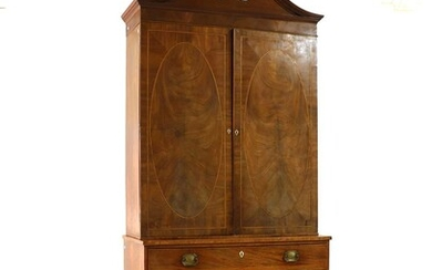 A George IV mahogany library cabinet