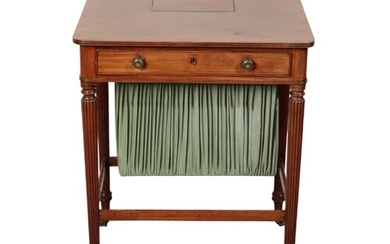 A REGENCY MAHOGANY CHAMBER WRITING TABLE, in the manner of G...
