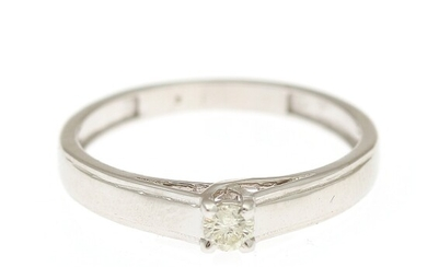 NOT SOLD. A diamond solitaire ring set with a brilliant-cut diamond, app. 0.10 ct., mounted...