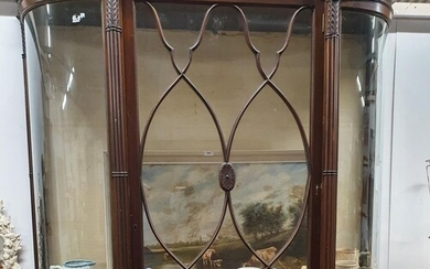 A fantastic 19th Century wall mounted curved Display Cabinet...