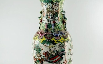 A large Chinese baluster vase, 19th Cent