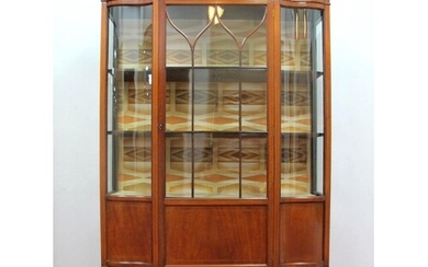 An Edwardian Inlaid Mahogany Display Cabinet, with moulded t...