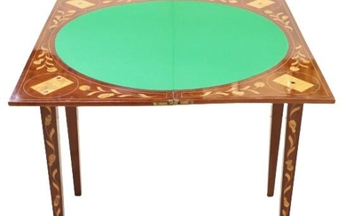 Antique Inlaid Marquetry Card Table