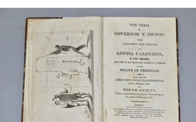 BOOK - THE TRIAL OF GOVERNOR T. PICTON. the trial of Governo...