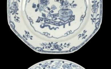 Bowl. An 8th-century Chinese porcelain bowl plus a plate