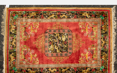 Chinese Pictorial Silk Rug