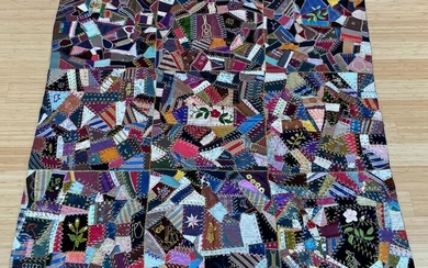 Early 20th Century Crazy Quilt