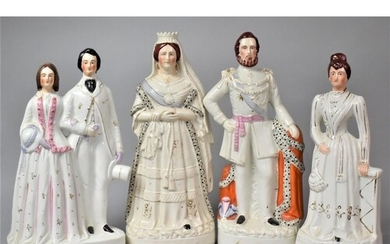 Four 19th Century Staffordshire Pottery Portrait Figures of ...