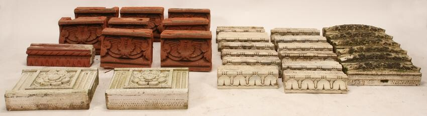 GLAZED STONEWARE AND TERRACOTTA ARCHITECTURAL ELEMENTS