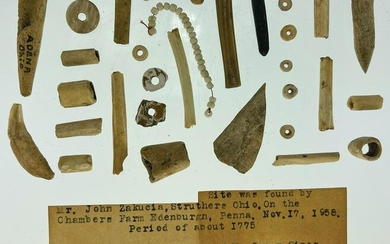 Group of 30 Shell and Animal Bone artifacts found by