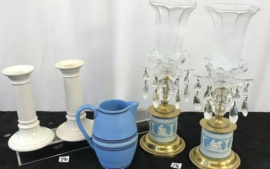 Group to include Jasperware Vases, Doulton