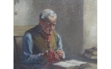 HENRY RAEBURN DOBSON. 'In His Study', signed, oil on canvas,...