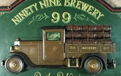Ninety Nine Brewery 3D Carved Wooden Sign