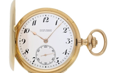 Pocket watch: very fine gold hunting case minute repeater, top quality, Ulysse Nardin No.319644, ca. 1920