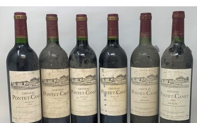 Six bottles of Chateau Pontet-Canet, Pauillac, 2000 (4) and ...