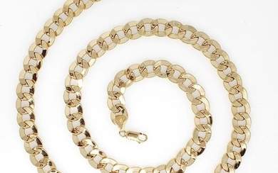 18 kt. Yellow gold - Necklace - Cuban