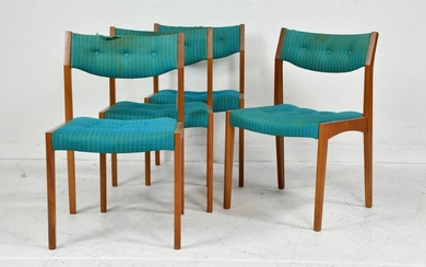 4 Upholstered Mid Century Modern Dining Chairs