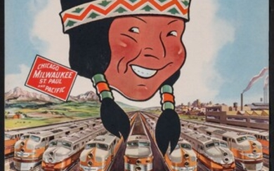 A COMPLETE MILWAUKEE ROAD CALENDAR WITH SPEEDLINERS