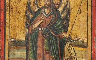 A DATED ICON SHOWING ST. JOHN THE FORERUNNER AS ANGEL