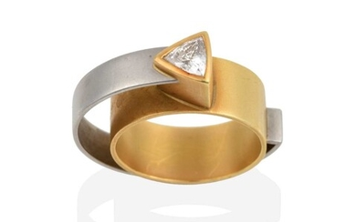 A Diamond Double Band Ring, by Ursula Scholz, of...