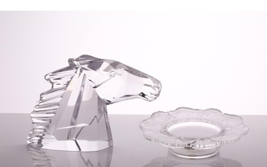 A Lalique Honfleur frosted leaf dish, in original box, 14.5 ...