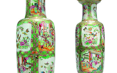 A PAIR OF FRENCH ORMOLU-MOUNTED CHINESE FAMILLE ROSE PORCELAIN VASES