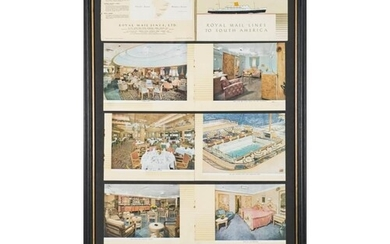 A collection of framed Cruise Ship and maritime related phot...